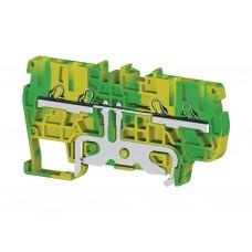 336540, Клеммник пружинный быстрозажимной (Push in), 4-хвыводной, 2,5 мм.кв., (земля); PYK2,5CT (упак 50 шт)