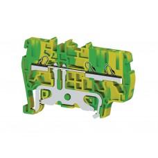 336550, Клеммник пружинный быстрозажимной (Push in), 3-хвыводной, 2,5 мм.кв., (земля); PYK2,5ET (упак 50 шт)