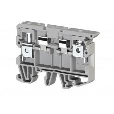 351109, Клеммник с держателем предохранителя (5x20, 5x25) на DIN-рейку, 6 мм.кв. (серый); ASK 2S (упак 50 шт)