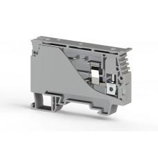 351129, Клеммник с держателем предохранителя (6.35x31,75) на DIN-рейку, 6 мм.кв. (серый); ASK 4S (упак 20 шт)