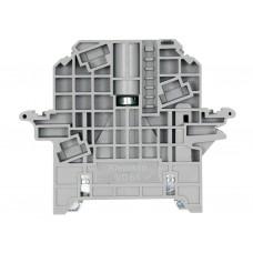 495109, Упор на DIN-рейку MR35, высокий, с возм.устан. крышки и опломбировки, (серый); KD 6A (упак 50 шт)